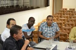 Vereador Julimar Pelizari durante reunião do CONSEG.