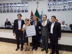 Maicon Lopes, Maria da Glória C. Cardoso, Erney A. de Paula, Manoel Brandão e Cal Ribeiro.