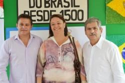 Vereadores Julimar Pelizari, Fabiana Sevieiro e Erney Antônio de Paula