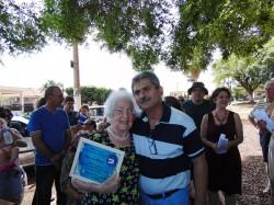 Homenageada, senhora Dirce Nadalin e Presidente da Câmara Erney Antônio de Paula.