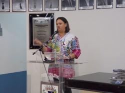Vereador Fabiana Sevieiro, faz discurso após ser eleita Presidente da Casa para o Biênio 2015/2016.