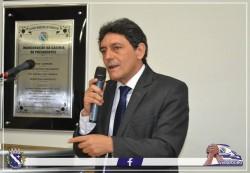 Prefeito Cal Ribeiro discursa durante Sessão Solene.
