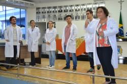 Equipe do AME de Barretos durante palestra sobre hipertensão.