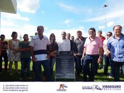 Vereadores Participam de inauguração simbólica do Sistema de Abastecimento e do Reservatório de água (Lago Municipal)