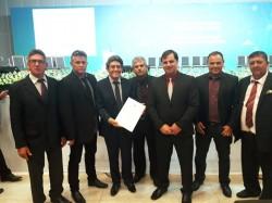 Vereadores acompanham Prefeito a Brasília, para assinatura de convênio e busca de recursos ao município.