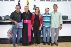 Bispo Diocesano em visita à Câmara Municipal.